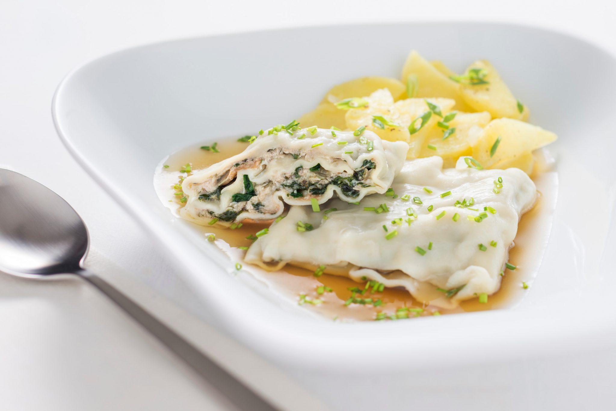 So lieben es die Schwaben:  Kartoffelsalat in der Brühe