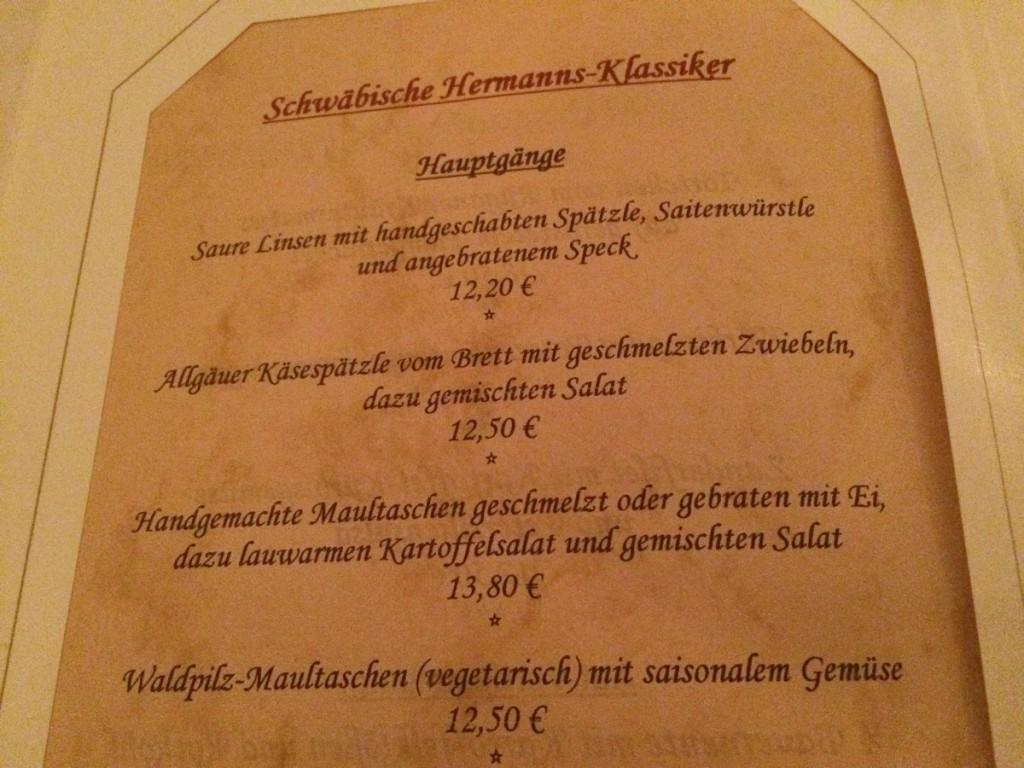 Klassiker in Hermanns Einkehr