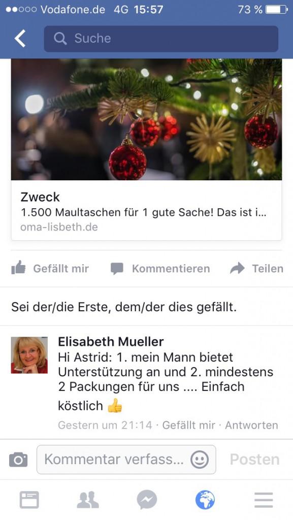 Vorbestellungen über Facebook