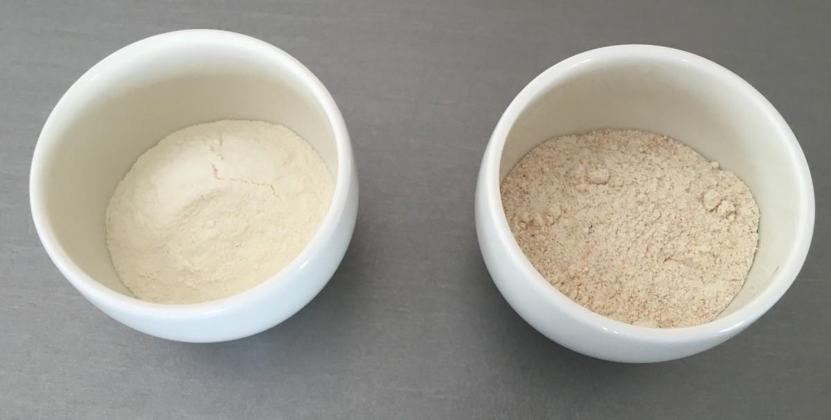 Weizendunst: links konventionell, rechts in Bio-Qualität
