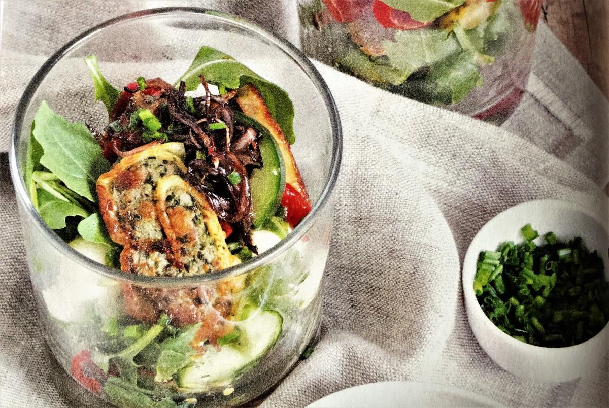 Maultaschen-Salat im Glas
